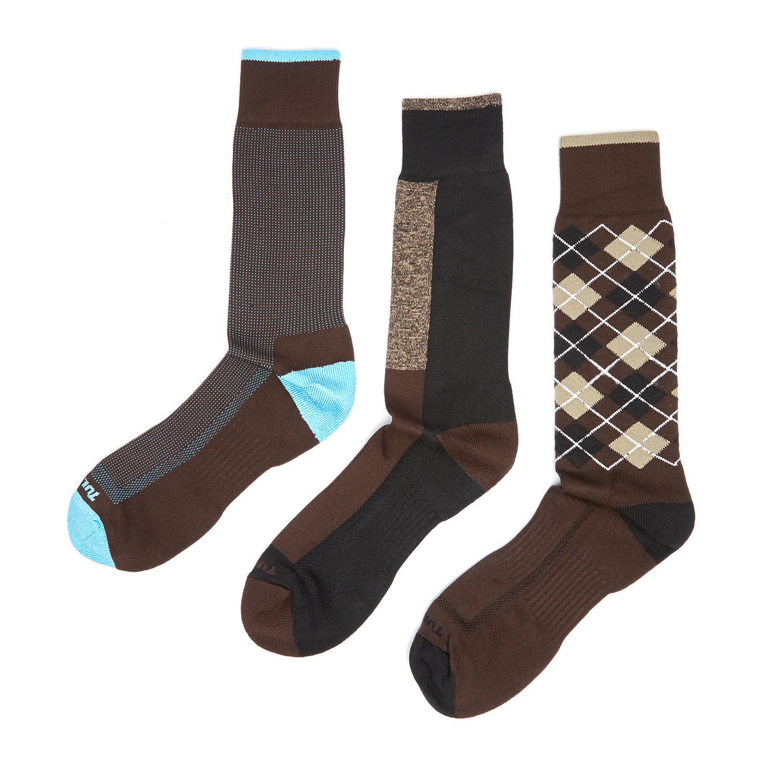 Dress socks brown pack of 3 remo tulliani touch of modern