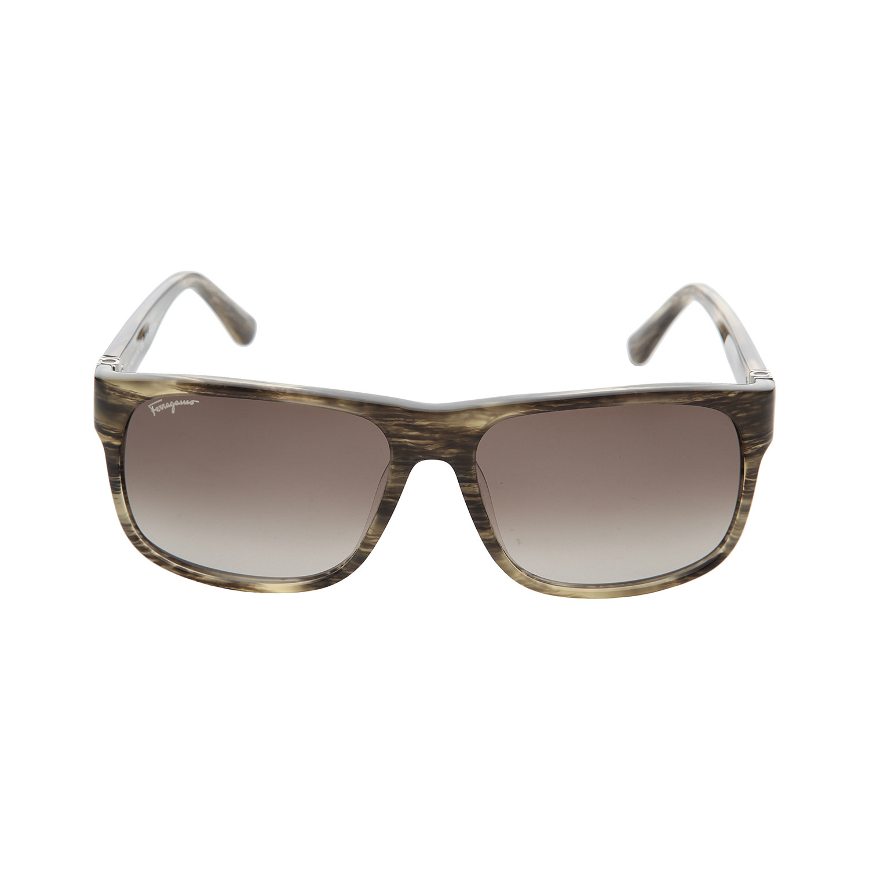 ferragamo square sunglasses wood brown salvatore ferragamo touch of modern. Black Bedroom Furniture Sets. Home Design Ideas