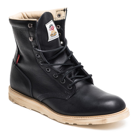 Leather Hi Boot // Black