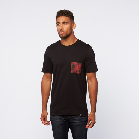 Contrast Pocket Tee // Black