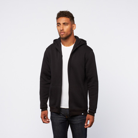 Zip-Up Hoodie // Black