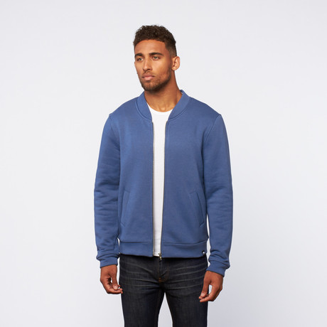Zip-Up sweater // Blue