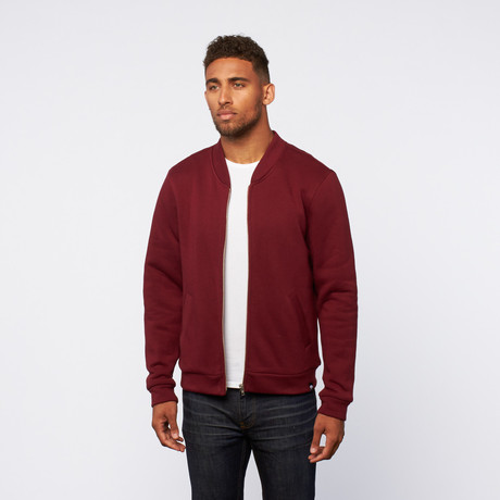 Zip-Up sweater // Deep Red