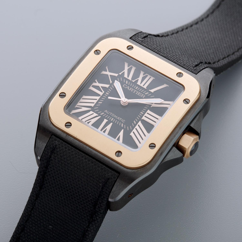 cartier santos   unworn fine luxury watches touch  modern