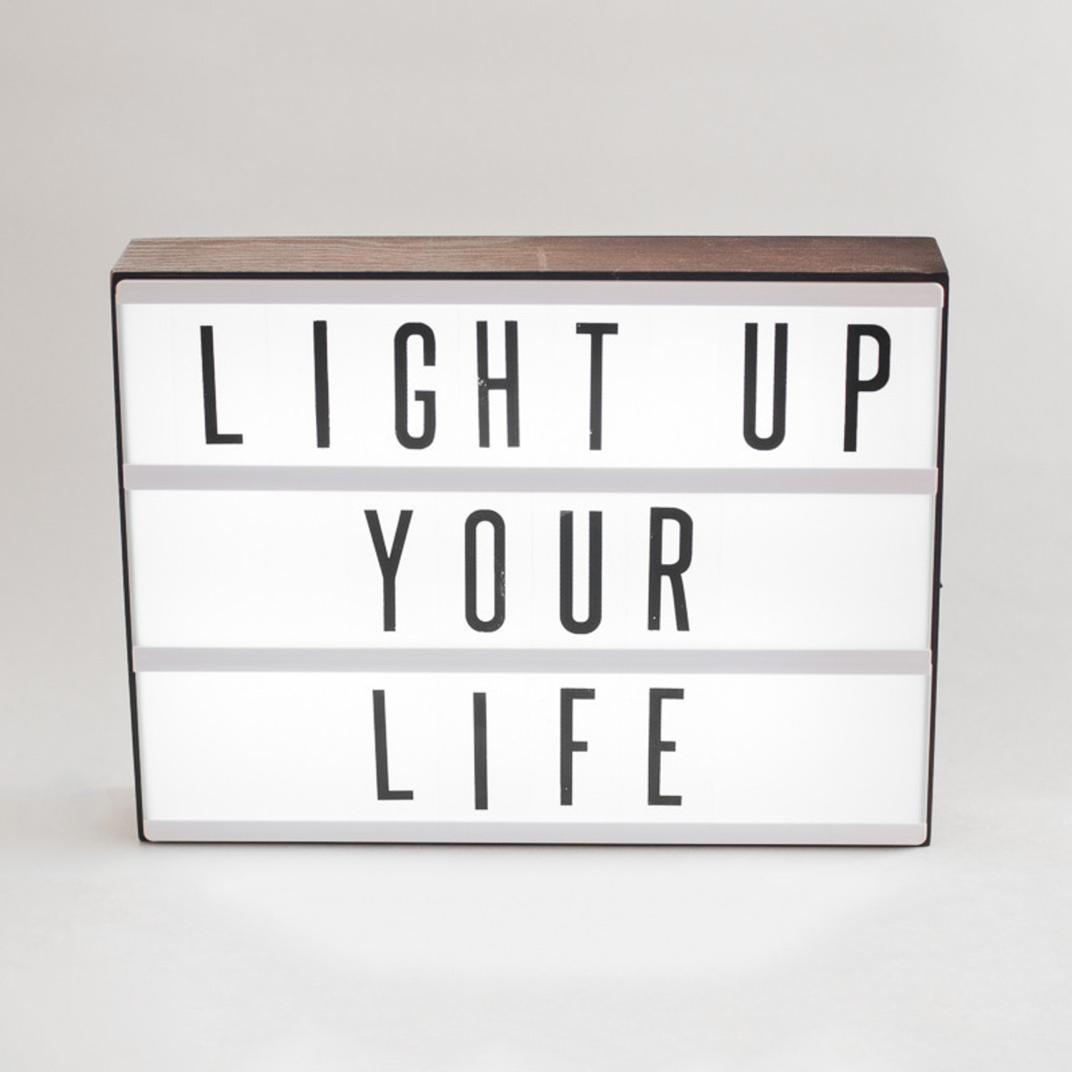 Wooden Letters Home Decor Wood Cinema Lightbox My Cinema Lightbox Touch Of Modern