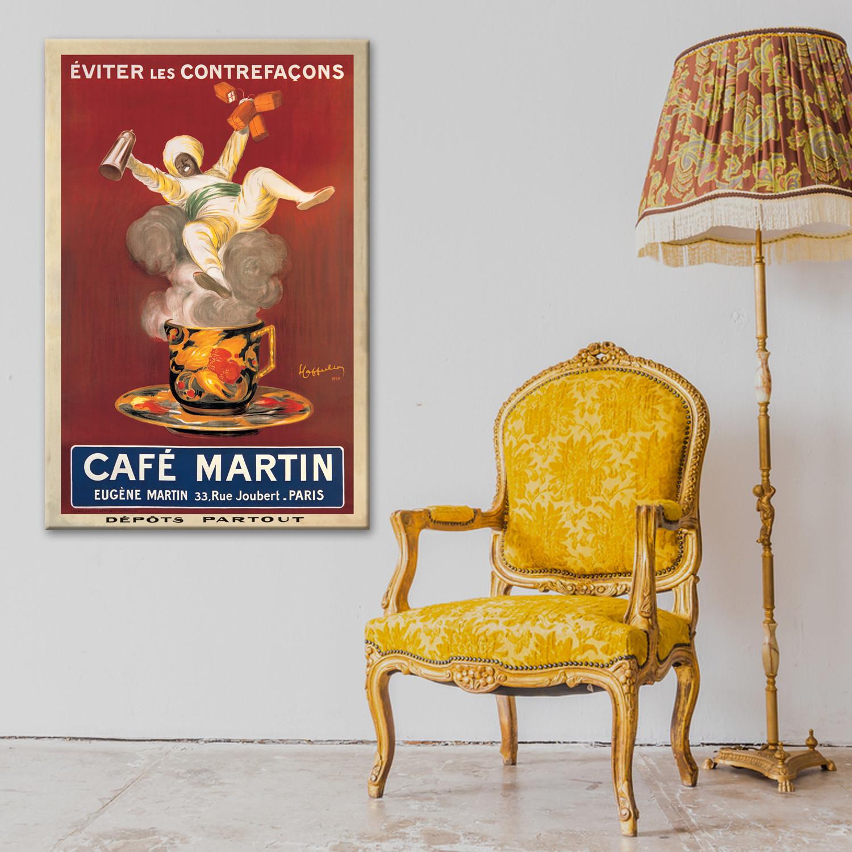 Leinwandbild Cafe Martin Leonetto Cappiello