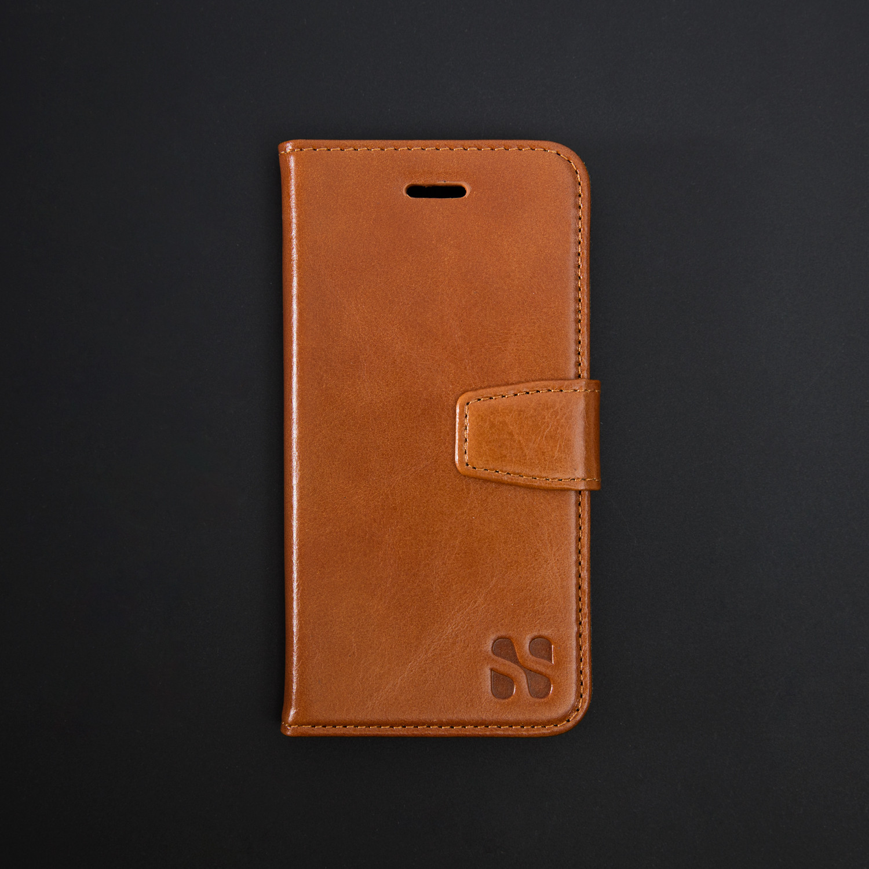 pretty nice 59002 91e9e SafeSleeve Wallet Case // Tan Leather (iPhone 6/6s Plus) - Safe ...