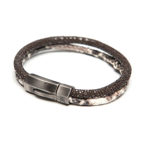 Stingray + Faux Python Duo Bracelet