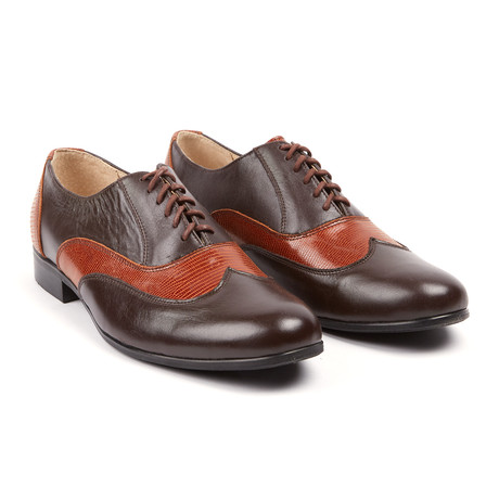 Lord Chancellor Two Tone Wingtip Oxford // Brown
