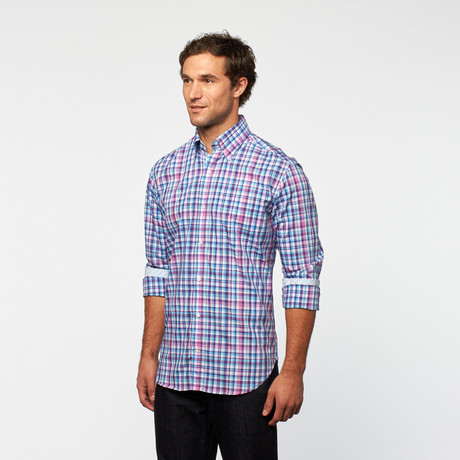 Tailorbyrd sweaters shirting touch of modern for Purple plaid button up shirt