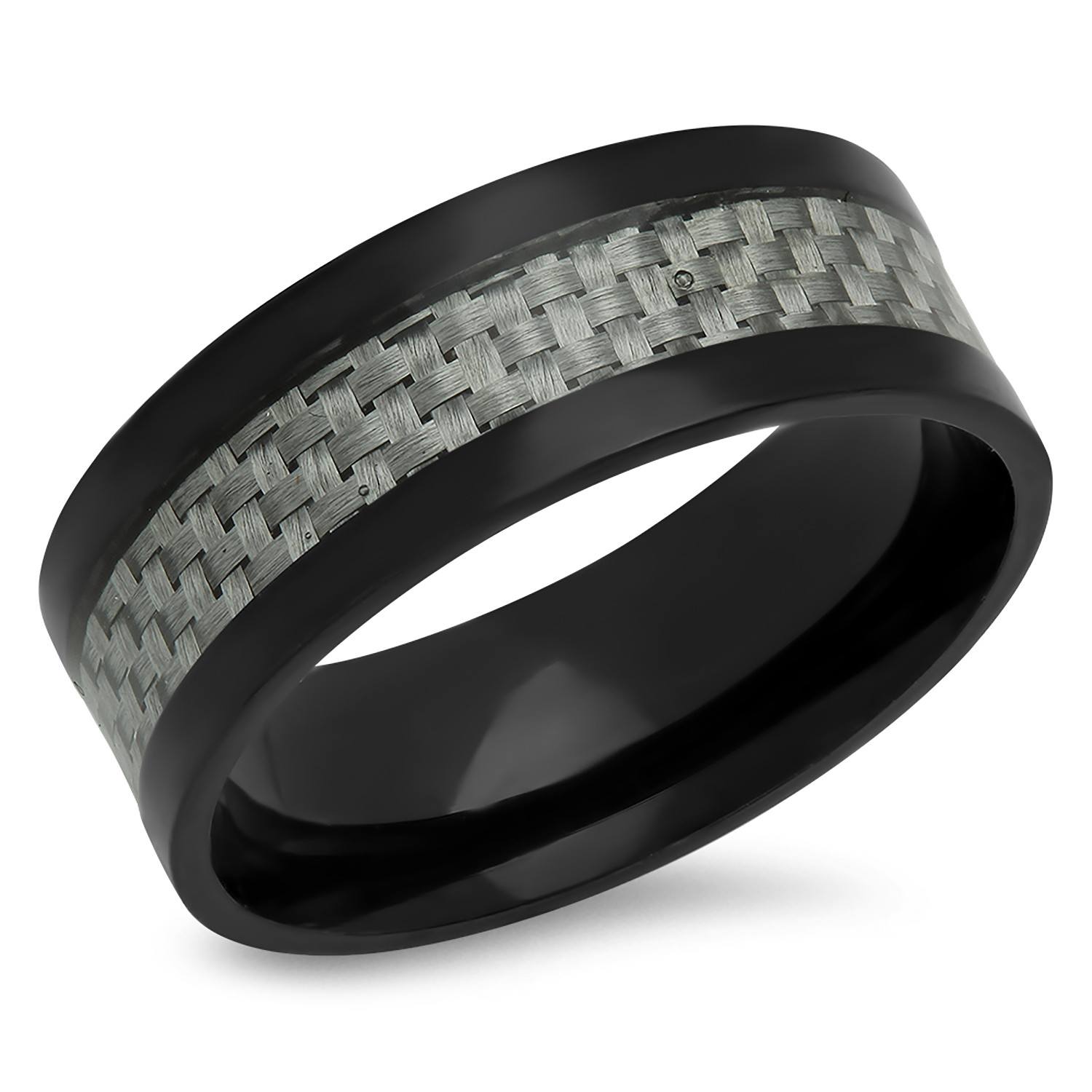 Carbon Fiber Diamontrigue Jewelry: Carbon Fiber Ring // Black (Size 9)
