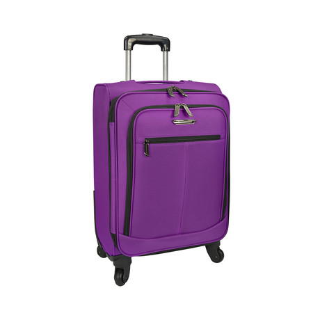 Merced Lightweight Spinner Luggage // Purple