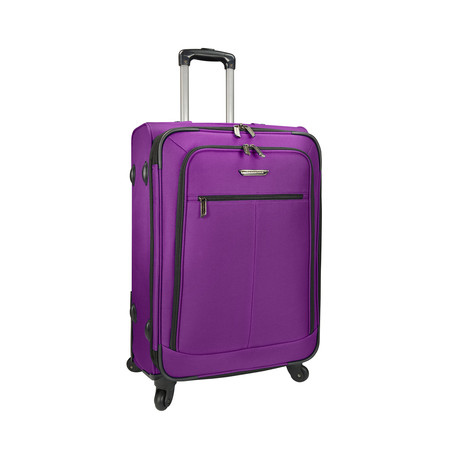 "Merced Lightweight Spinner Luggage // Purple (22"")"