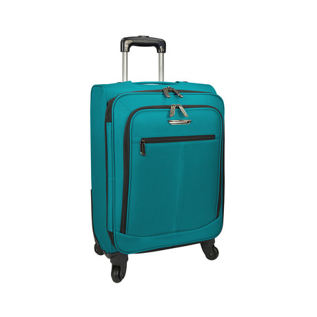 "Merced Lightweight Spinner Luggage // Peacock Green (22"")"