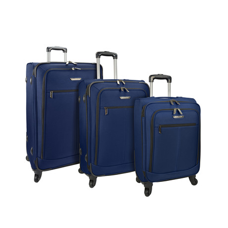 Merced Lightweight Spinner Luggage // Set of 3 (Peacock Green)