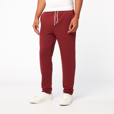 Fleece Sweatpant // Deep Red