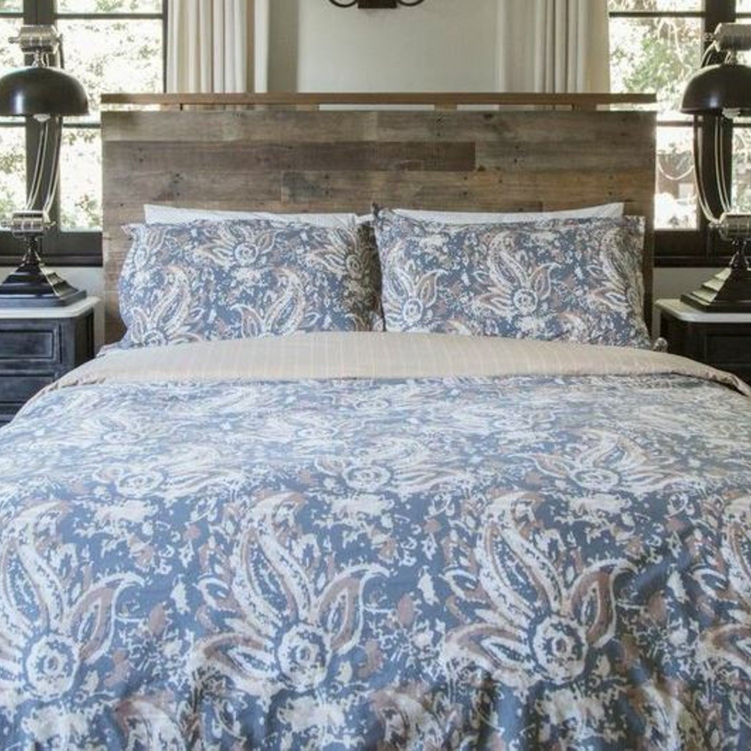 The Painted Paisley Comforter Set (Twin/Twin Extra Long) - Thread ...