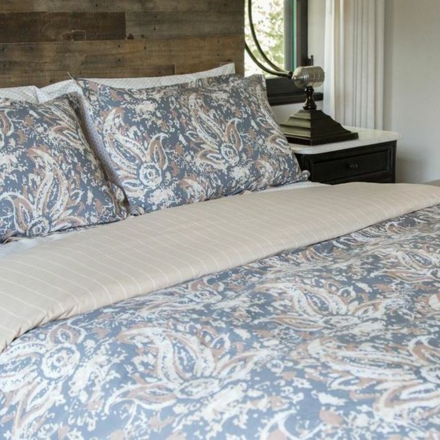 the painted paisley comforter set twin twin extra long thread experiment touch of modern. Black Bedroom Furniture Sets. Home Design Ideas