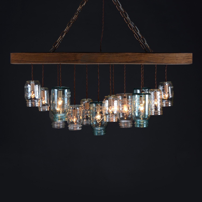 Mason jar chandelier rectangle dirk nykamp design touch of modern mason jar chandelier rectangle aloadofball Images