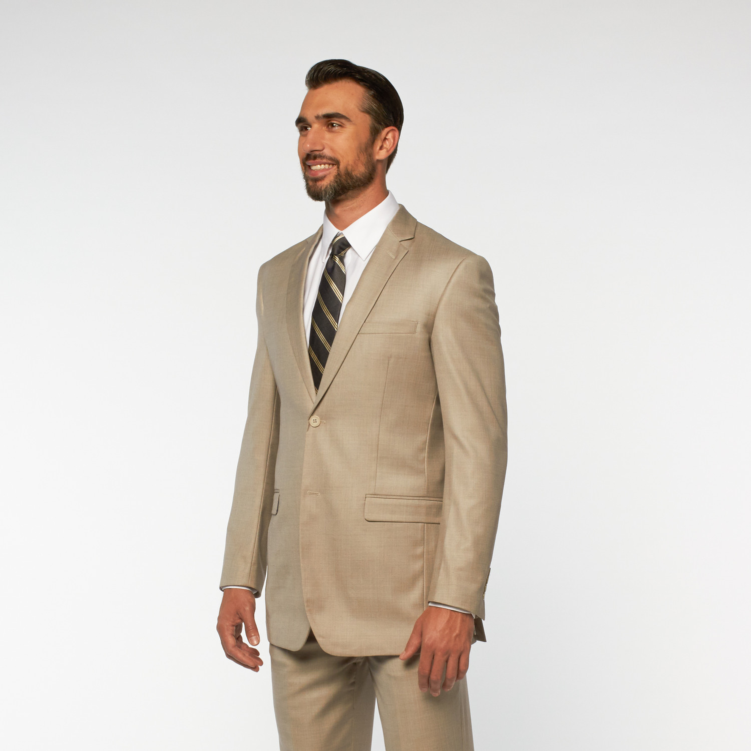 Eleganza // 2-Piece Slim Fit Suit // Crudo (US: 36S) - Polished