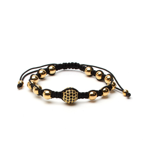 Inception Cord Bracelet // Black + Gold