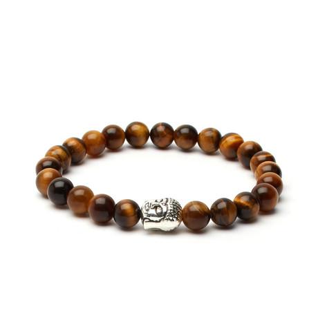 Tiger's Eye Buddha Bracelet // Brown