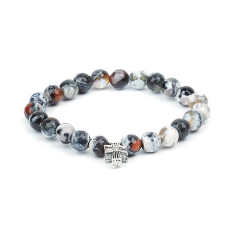 Caledon Temple Bracelet // Black + White