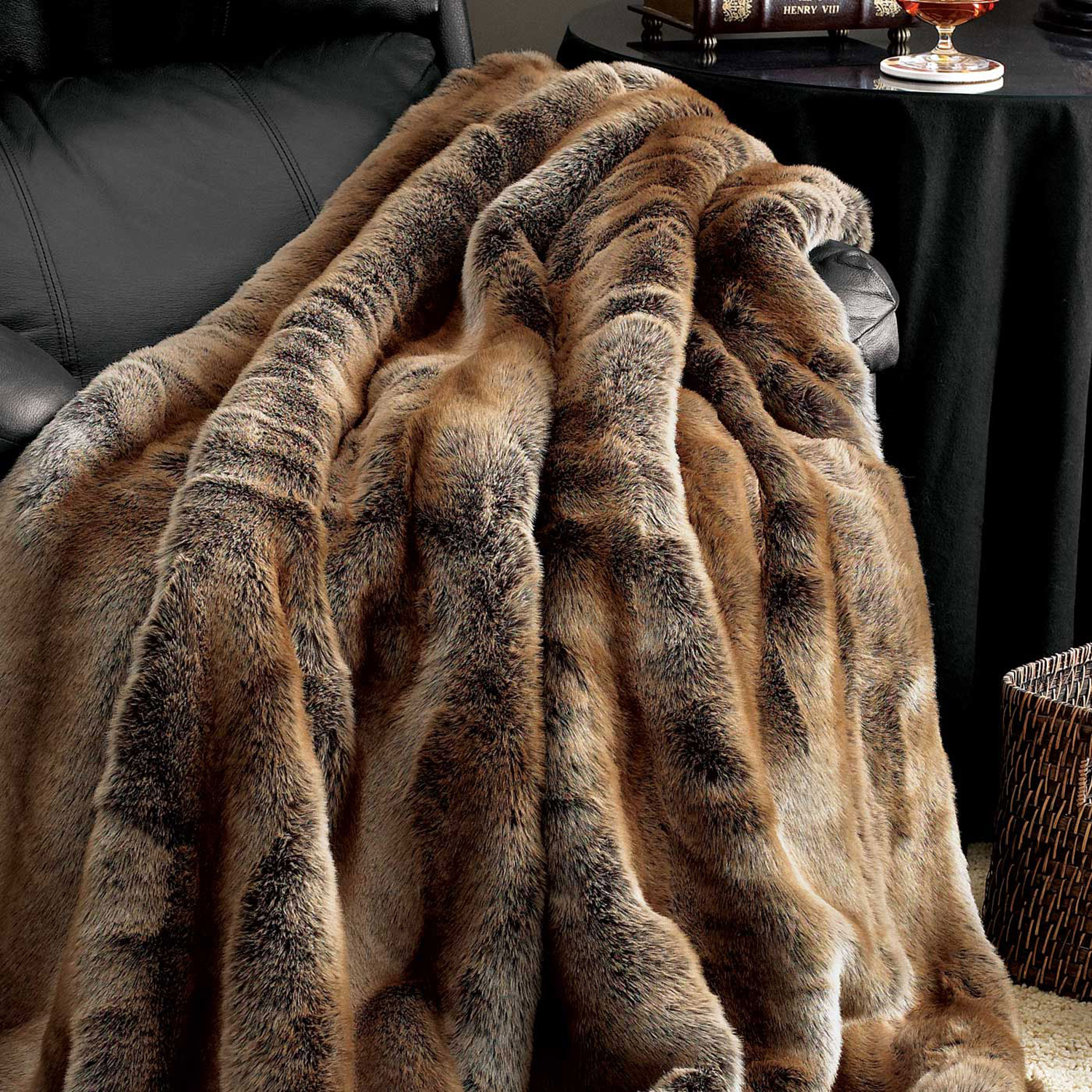 Limited Edition Faux Fur Throw // Coyote - Fabulous Furs
