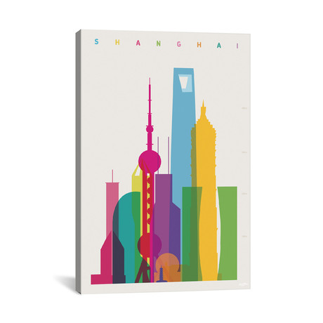 "Shanghai // Yoni Alter (26""W x 40""H x 1.5""D)"
