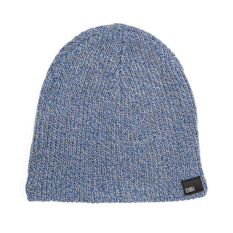 Slouchy Beanie // Navy + Charcoal
