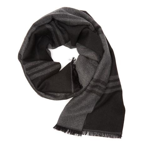 Black + Grey Pattern Scarf