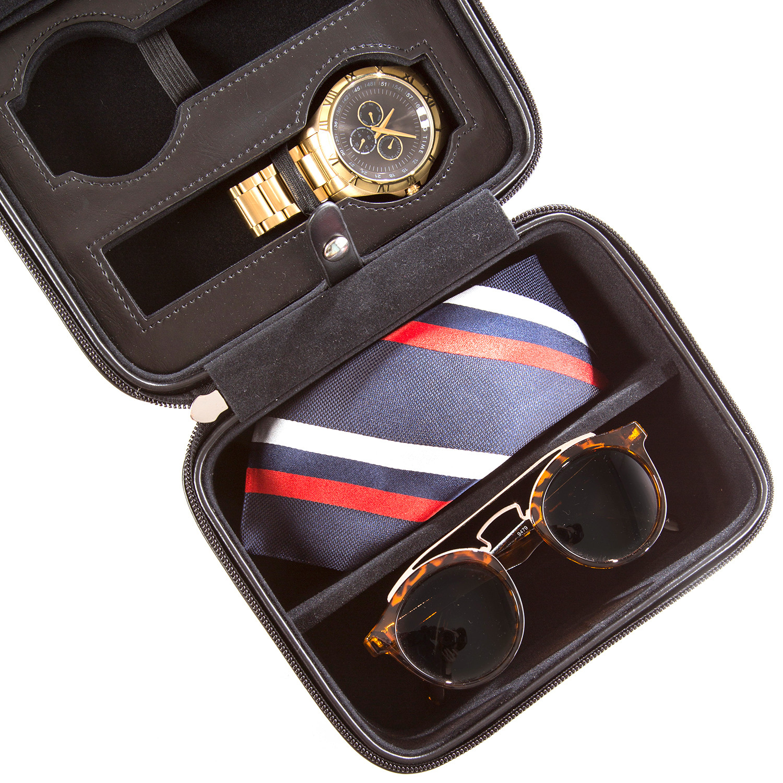 The Elite Watch + Sunglasses Box (Grey Lizard) - Brouk ...