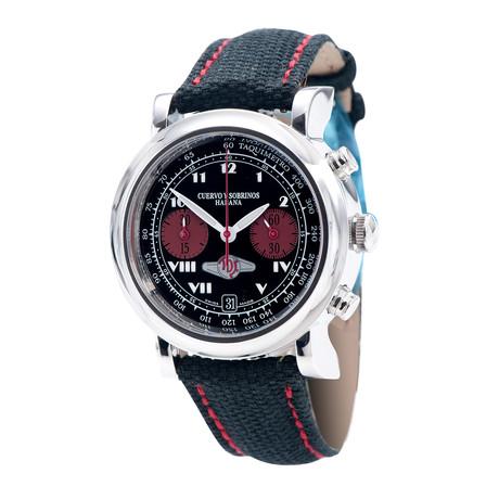 Cuervo y Sobrinos Torpedo Chronograph Automatic // 3022-1N // New