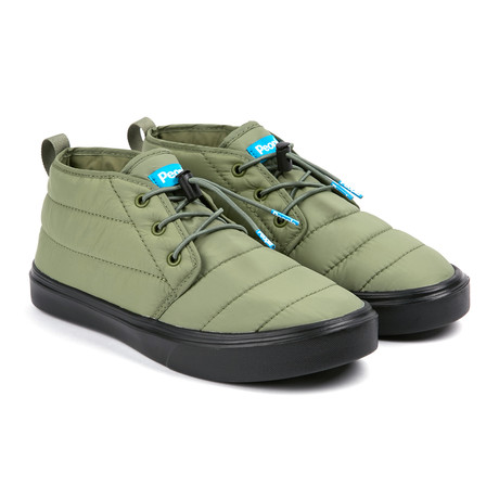 Cypress Puffy Sneaker // Expedition Green + Really Black (US: 7)