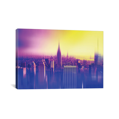 "Urban Stretch Series // New York Colors // Canvas Print (26""W x 18""H x 0.75""D)"