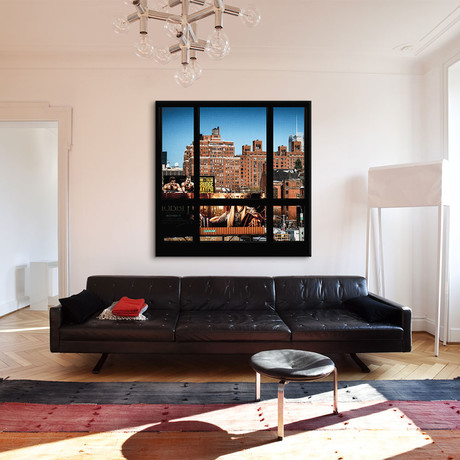 "Manhattan Buildings Series // Window View // Canvas Print (18""H x 18""L x 0.75""D)"