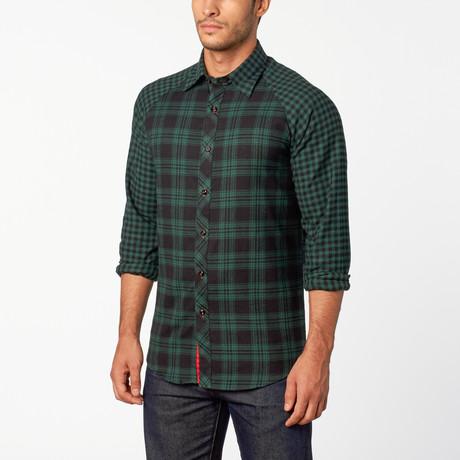 Whitman Button-Up shirt // Deep Green