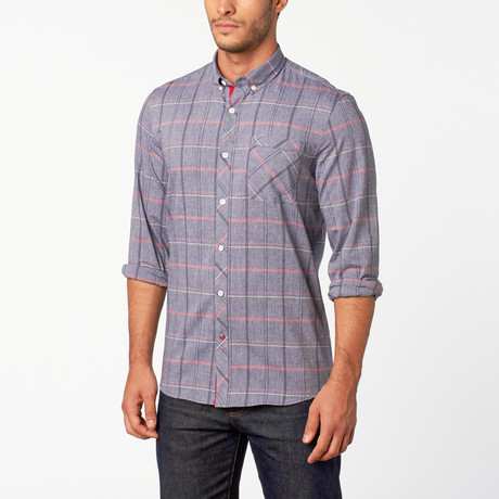 Moby button-down shirt // Blue