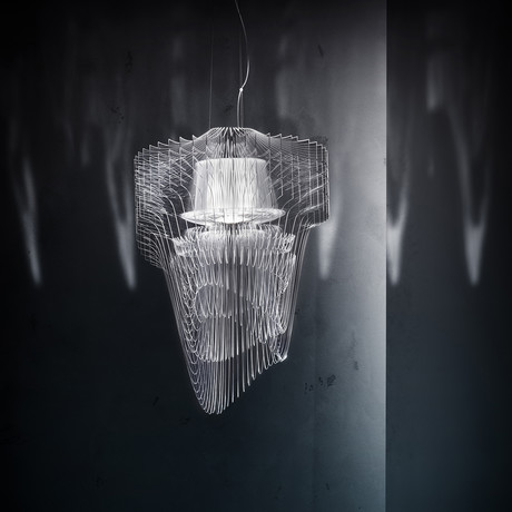 Aria Suspension Lamp // Transparent (Large)