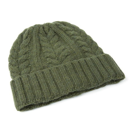 Cable Beanie // Olive