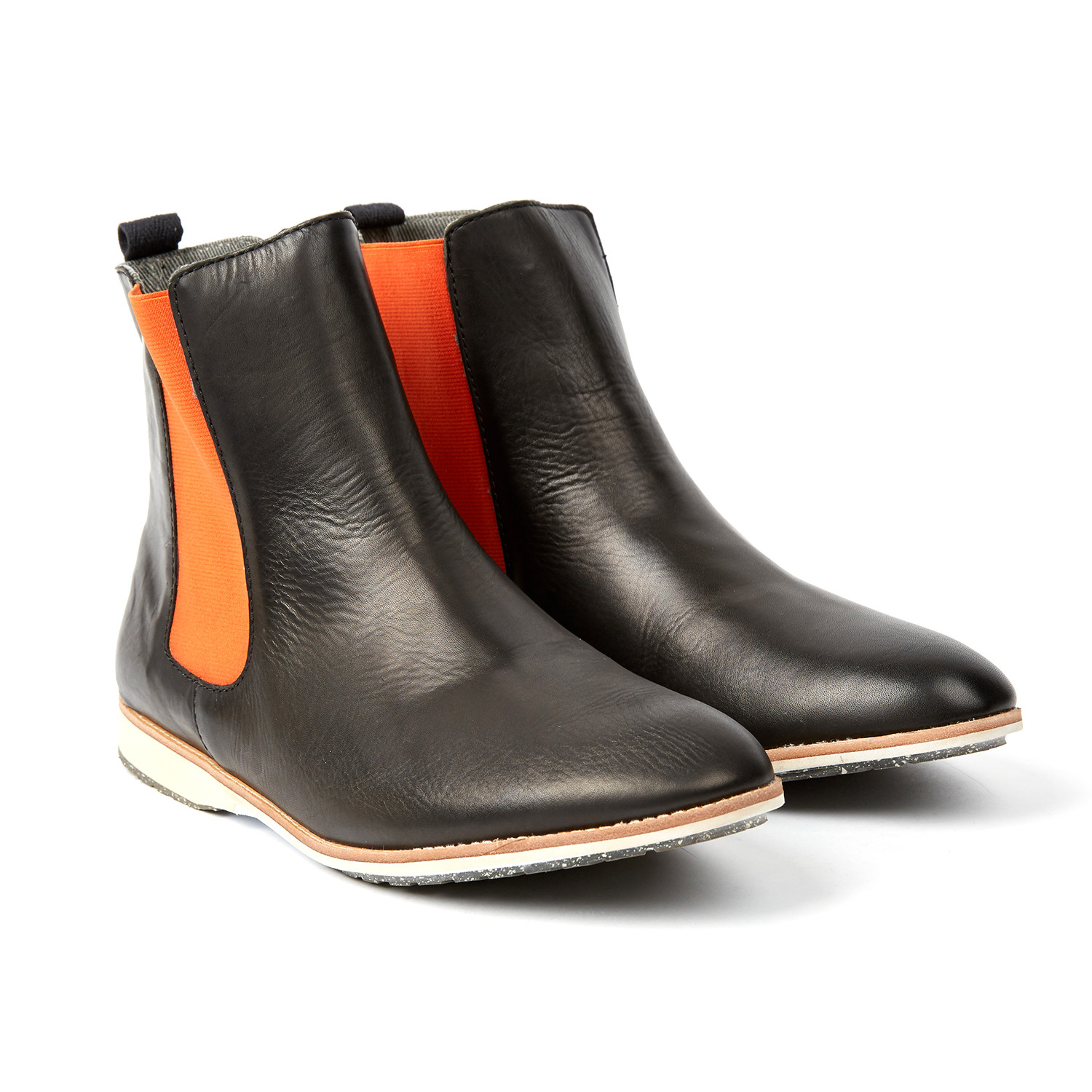 0f2185380 Chelsea Boot // Black + Orange (US: 9) - Rollie - Touch of Modern