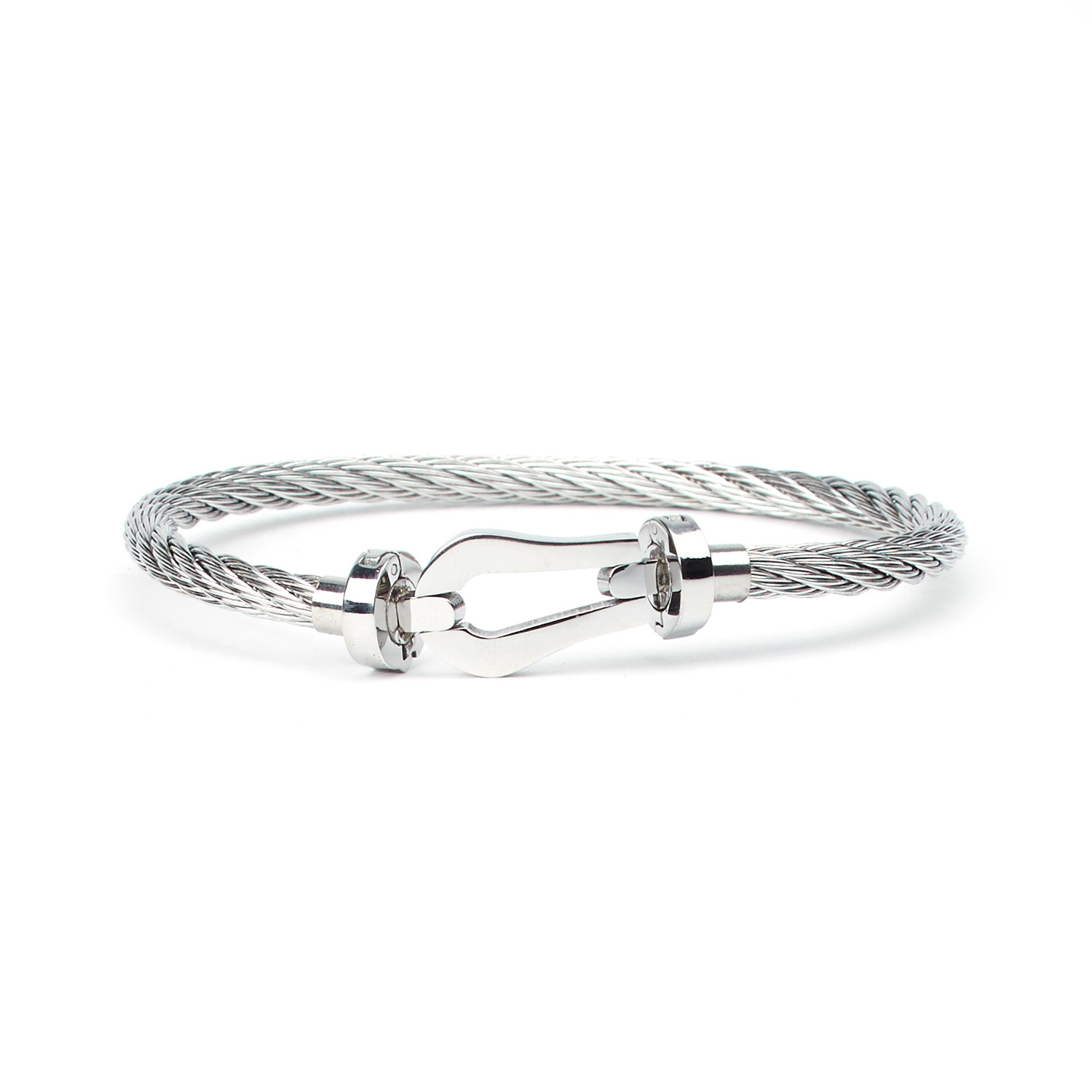 Milas Stainless Steel Cable Bracelet