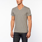 Essentials V-Neck Short-Sleeve Tee // Black + White + Gray // Pack of 3 (L)
