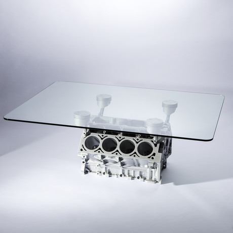 Blockhead Designs // Engine Block Coffee Table (Burnt Orange)