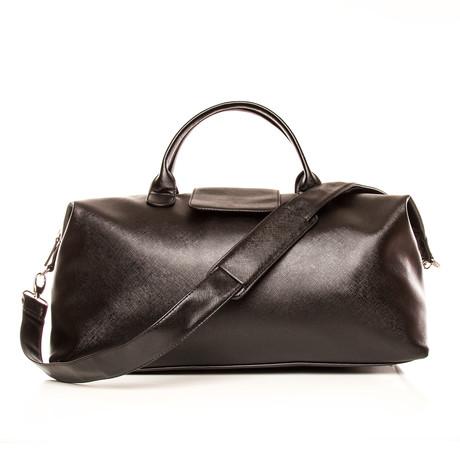 Alpha Leather Duffel Bag (Chocolate Brown)