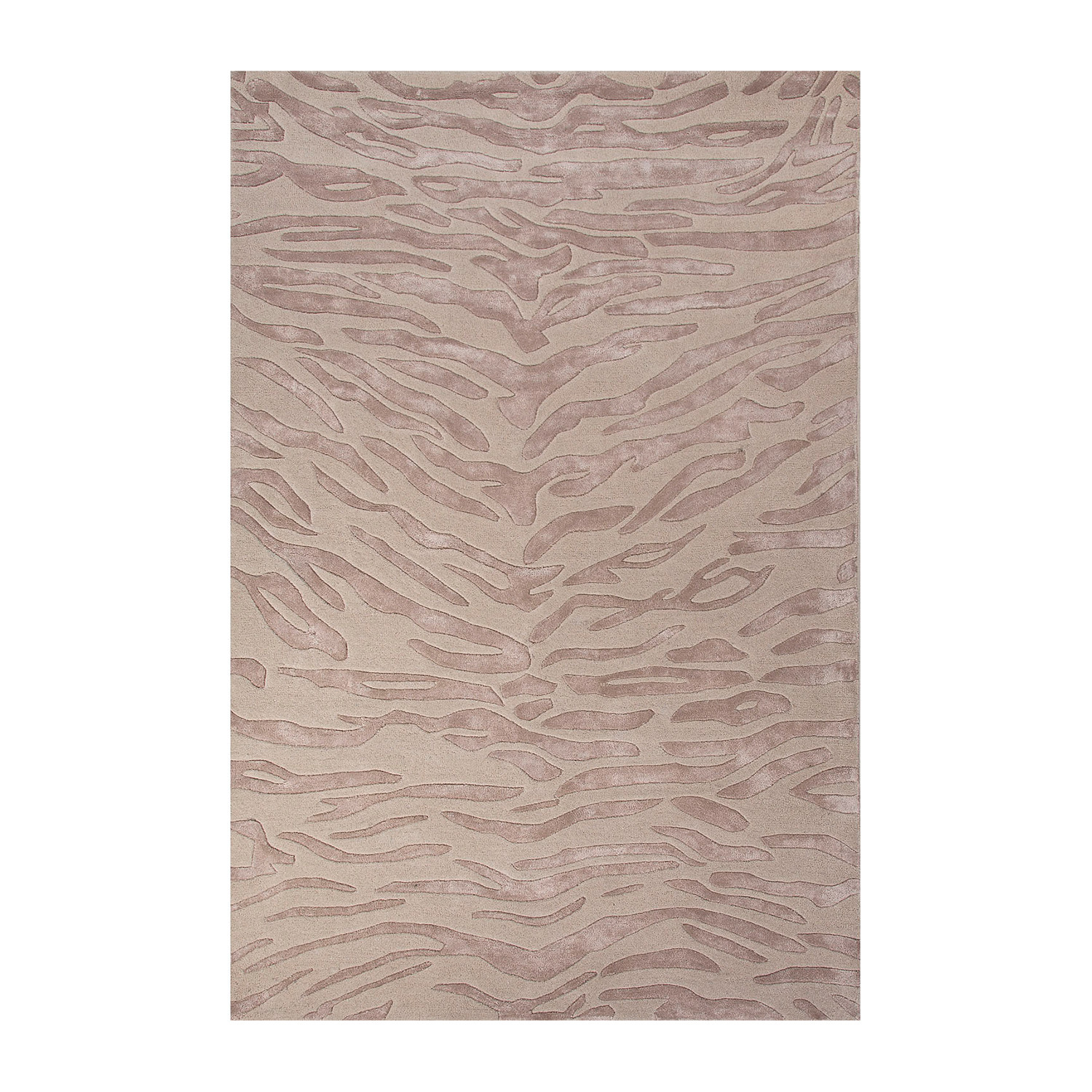 Modern Animal Print Pattern Wool Viscose Area Rug