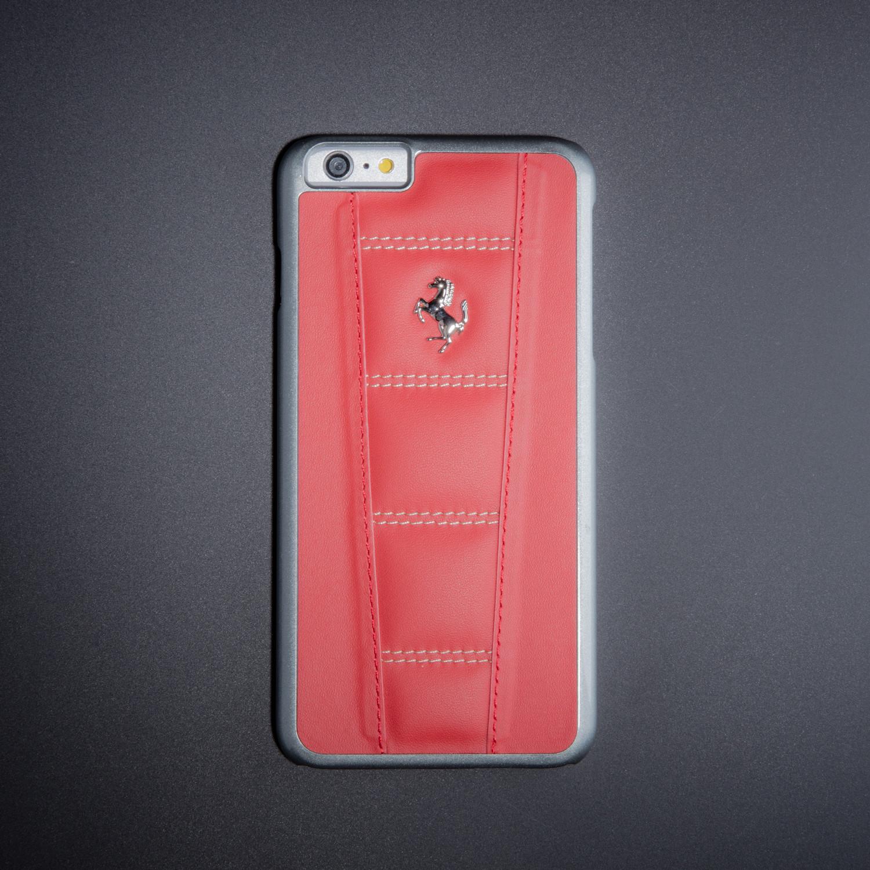 buy popular 69cda c6cbb Ferrari Leather Hard Case // Red + Beige (iPhone 6/6s) - Masters ...