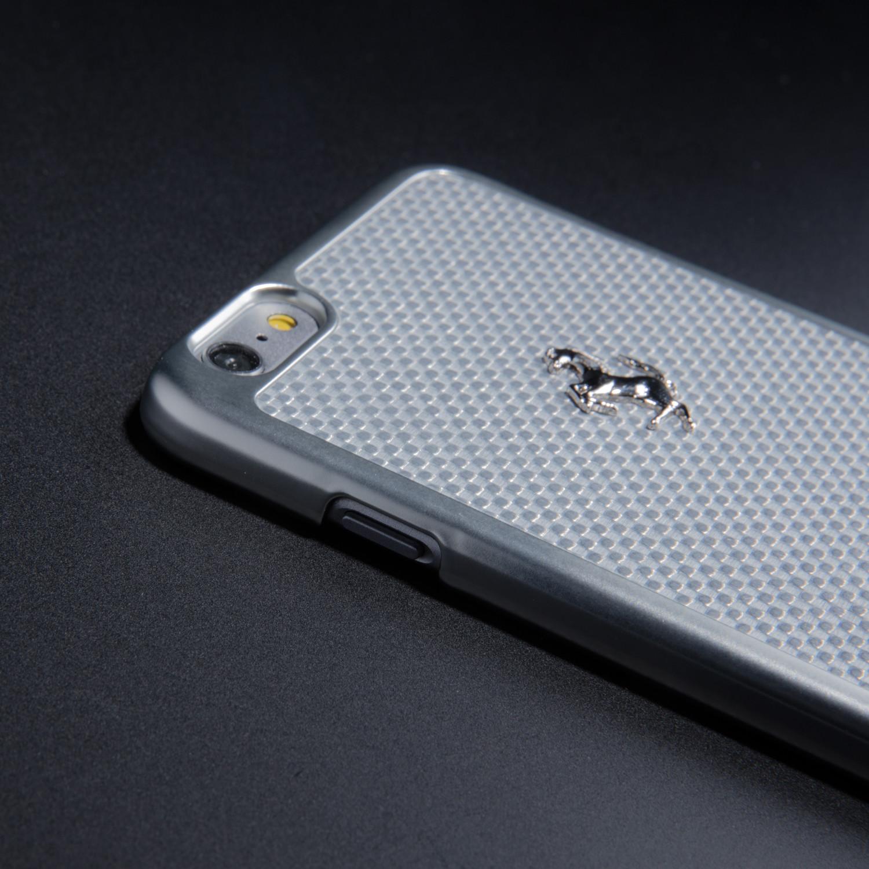online retailer 3fd07 0c96a Ferrari GT Carbon Hard Case // White + Silver (iPhone 6/6s Plus ...