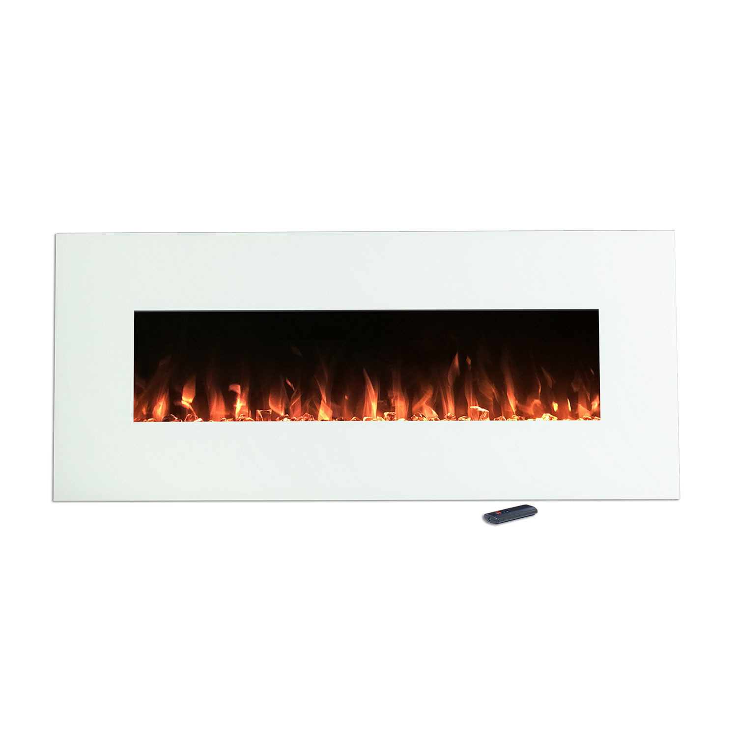 Northwest White Electronic Fireplace + Wall Mount + Floor Stand ...