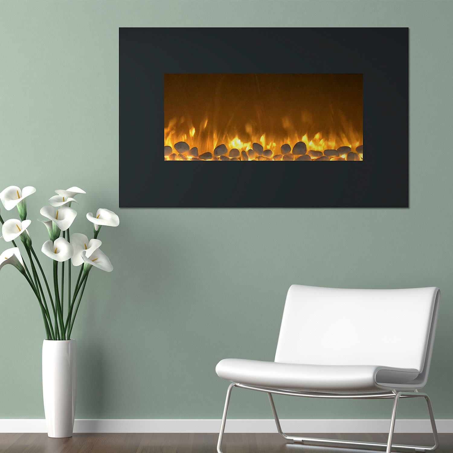 Northwest Electric Fireplace + Wall Mount + Floor Stand // Color ...